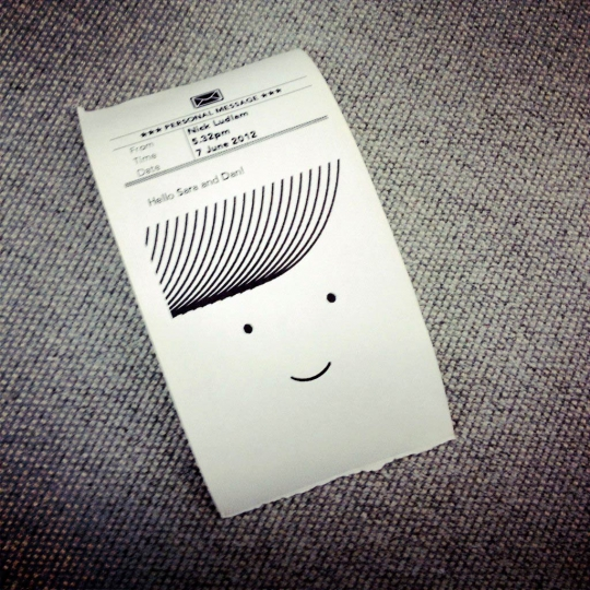 Little Printer's little print-out.
