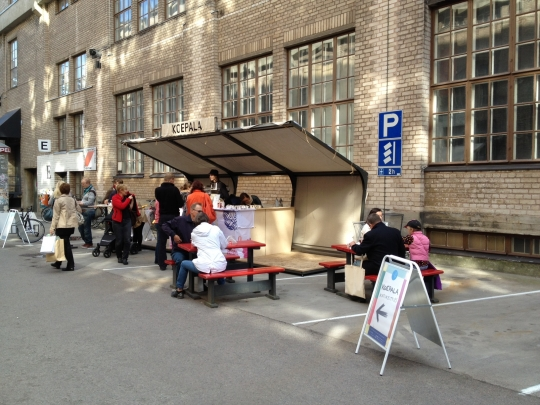 "This is a snap of <a href=""http://www.koepala.com/"">Koepala</a>, a popup during Helsinki Design Week. New food-related concepts are popping up all the time now. Open Kitchen is designed to help them take root."