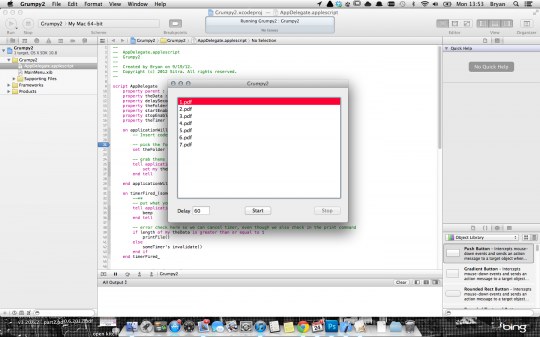 "For a fun evening, teach yourself Applescript Objective-C. This will power our ""Grumpy Printer""."