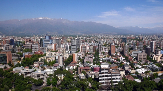 Santiago de Chile as seen from the offices of Elemental.