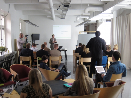 Marco kicks off the Synergize Finland studios with an introduction to strategic design